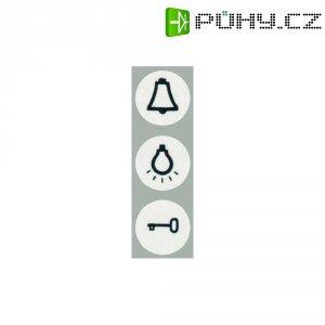 Nálepky se symboly na dveře/světlo/zvonek Monte, 102039, bílá