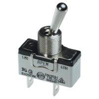Páčkový spínač pro vysoké proudové zatížení APEM 637H/2 / 6373676, 250 V/AC, 10 A, 1x (zap)/vyp/(zap), 1 ks