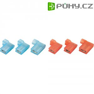 Faston zásuvka Vogt Verbindungstechnik 393205S 4.8 mm x 0.5 mm, 90 °, úplná izolace, modrá, 1 ks