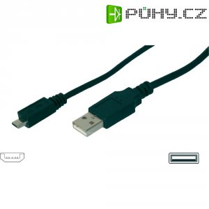 Kabel USB 2.0, USB A/USB micro B, 1,8 m, Digitus