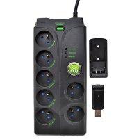 Přepěťová ochrana 7 zásuvek s USB ovladačem PO35