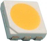 LED SMD 5050 3čip bílá teplá