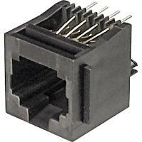 Konektor do DPS ASSMANN WSW A-20141, 6P6C, zásuvka vestavná, černá