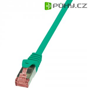Patch kabel LogiLink CAT6 S/FTP, zelená, 10 m