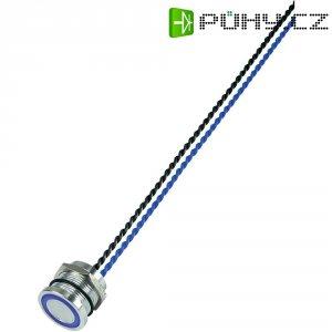 Piezo tlačítko, 24 V DC/AC, 0,2 A, IP 68, PS193P10Y01B24L, modrá LED, ploché