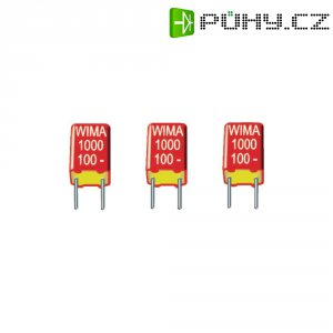 Fóliový kondenzátor FKS Wima FKS2D011501A00M, polyester, 1500 pF, 100 V, 20 %, 7,2 x 2,5 x 6,5 mm