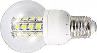Žárovka LED E27 24xSMD5050, koule, bílá teplá, 230V DOPRODEJ