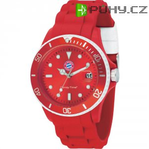 Ručičkové náramkové hodinky FC Bayern Candy Time Quartz, silikonový pásek, červená