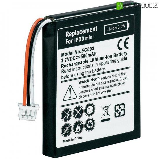 Náhradní Li-Ion akumulátor pro iPod mini, 3,7 V 600 mAh - Kliknutím na obrázek zavřete