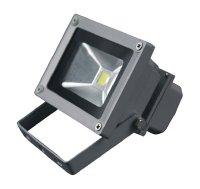 LED venkovní reflektor, 10W, 800lm, MCOB, AC 230V, šedá