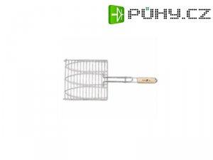 Opékač BBQ 37C, 275x280/580 mm, Cr+dřevo