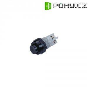 Tlačítko RAFI 101102011.0104, 1x vyp/(zap), 250 V/AC, 2 A, Ø 14 mm, černá