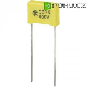 Foliový kondenzátor MKS, 0,01 µF, 400 V, 5 %, 13 x 4 x 9 mm