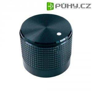 Otočný knoflík Cliff FC7225, pro sérii KM20, 6 mm, s drážkováním, černá