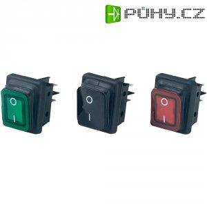 Kolébkový spínač B4MASK48N1G21000, 2x vyp/zap, 250 V/AC, 16 A, červená/černá
