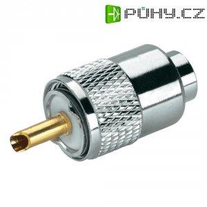 UHF konektor, 50 Ω, Delrin, PTFE, DAP, zástrčka rovná