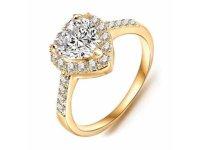 Prsten Srdíčko zlatá barva 52mm