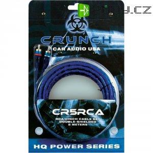 Kabel cinch Crunch CR-5 RCA, 2x zástrčka ⇔ 2x zástrčka, 5 m