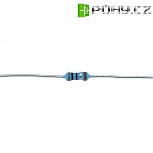 Metalizovaný rezistor, 124 Ω , 1 %, 0207, axiální vývody, 0,6 W, 1 %