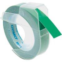 Páska do štítkovače DYMO S0898160, 9 mm, Prägeband, 3 m, bílá/zelená