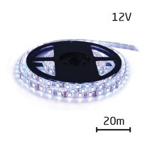 LED pásek 12V 5050 60LED/m IP20 max. 14.4W/m bílá studená (cívka 20m)