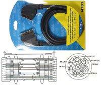 Kabel Scart-Scart HiFi plast 1,5m,2x stínění DOPRODEJ