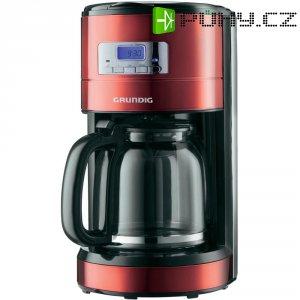 Kávovar Grundig RED SENSE KM 6330, černá/červená/nerez