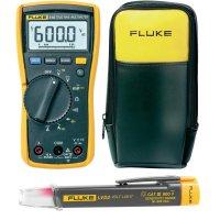 Sada digitálního multimetru Fluke 115, zkoušečky napětí Fluke LVD2 v pouzdře Fluke C90
