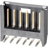 Kolíková lišta MOD II TE Connectivity 280378-2, úhlová, 2,54 mm, černá