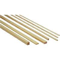 Lišta z borového dřeva, 1000 x 15 x 15 mm, 10 ks
