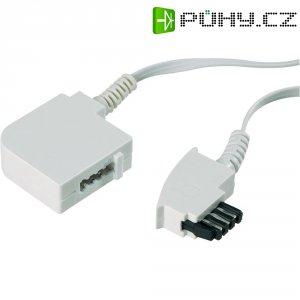 Telefonní kabel, TAE-F zástrčka ⇔ TAE-F zásuvka, 15 m, bílá
