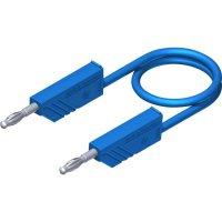 Měřicí kabel banánek 4 mm ⇔ banánek 4 mm SKS Hirschmann CO MLN 100/2,5, 1 m, modrá