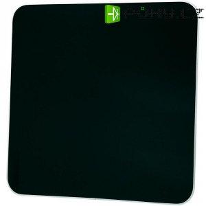 Skleněný konvektor, 425 W, černá