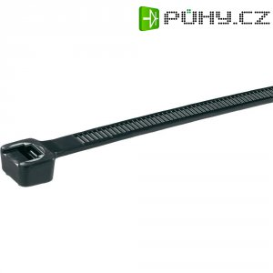 Stahovací pásky Panduit PLT4H-C0, 368 x 7,6 mm, 100 ks, černá