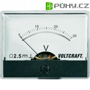 Analogové panelové měřidlo VOLTCRAFT AM-60X46/30V/DC 30 V