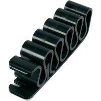 Samolepící kabelová spona 630913, samolepicí, 8 mm (max), černá, 1 ks