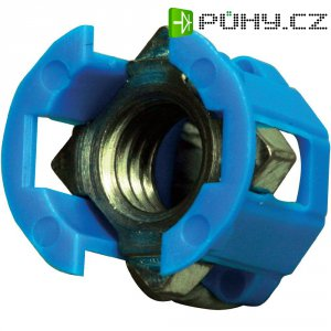 Klecová matice PB Fastener Cage Lok 382-2005, 12,3 x 12,8 x 0,8 mm, modrá
