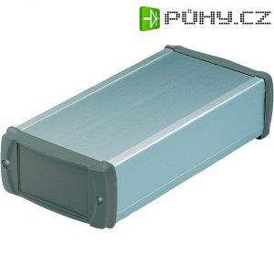 Hliníkový profil s kryty zABS Bopla, (d x š x v) 200 x 106 x 52 mm, stříbrná (L 1050-200)