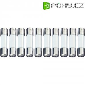 Jemná pojistka ESKA superrychlá 520108, 250 V, 0,125 A, skleněná trubice, 5 mm x 20 mm, 10 ks