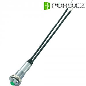 Neonová signálka Sedeco, Ø 7,2 mm, mosaz, zelená