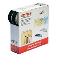 Suchý zip samolepící v boxu Fastech, 20 x 20 mm, bílá, 5 m