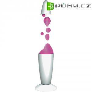 Lávová lampa, 71.851, 20 W, 340 mm, bílá/růžová