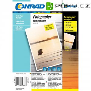 Conrad fotopapír 10X15, 240 g,listu