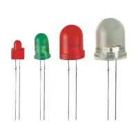 LED dioda kulatá s vývody Kingbright, L-796BID, 8 mm, super červená, L-796 BID