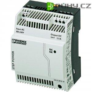 Zdroj na DIN lištu Phoenix Contact STEP-PS/1AC/24DC/2.5, 24 V/DC, 2,5 A