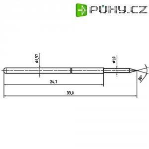 Zkušební hrot PTR 1025/E-1.5N-AU-1.0