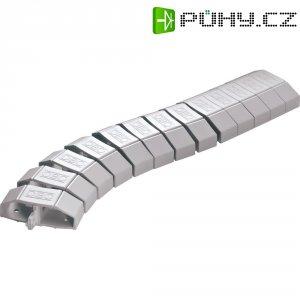 Flexibilní lišta na kabely OBO Bettermann, 6154922, 1000 mm, světle šedá