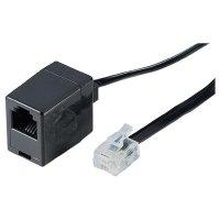 Telefonní kabel zástrčka RJ11 6p4c ⇔ zásuvka RJ11 6p4c, 10 m