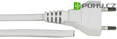 Flexo s volným koncem 2x0,5mm 2m bílá - Kliknutím na obrázek zavřete