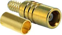 MCX zdířka lisovací na koax 3mm (RG174)